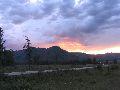 Закат. Вид от турбазы Высотник