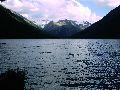 Мультинские озера. Вечерний вид на оз. Среднемультинское