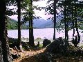 Мультинские озера. Вид на оз.Среднемультинское с межозерного перешейка