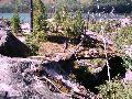 Мультинские озера. Межозерный перешеек. Валуны