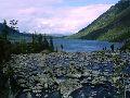 Мультинские озера. Протока между озерами и вид на оз. Нижнемультинское
