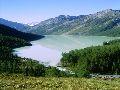 оз. Кучерлинское. Вид с северной возвышенности на подходе к озеру