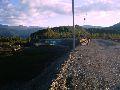 с. Октябрьское. Строящийся мост через  р. Катунь