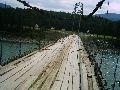с. Тюнгур. Навесной мост через р. Катунь