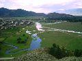 Верхний Уймон. Вид на село с восточной гряды. 1 часть панорамы