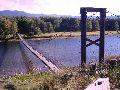 Усть-Кокса. Навесной мост от центральной площади в зону отдыха