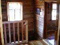 Верхний Уймон. Музей Рериха СибРО. 2 этаж. Вид корридора и лестницы перед комнатой Е.И и Н.К.