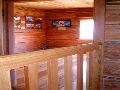Верхний Уймон. Музей Рериха СибРО. 2 этаж. Вид с лестницы на комнату Ю.Н.