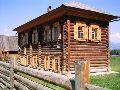 Верхний Уймон. Музей Рериха СибРО. Вид на здание музея с центральной улицы